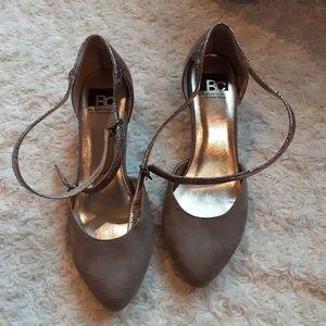 BC footwear Strappy heel rose gold saude 8